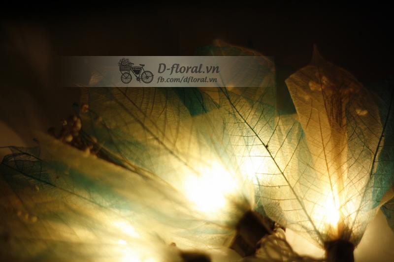 đèn trang trí vintage lá